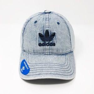 NWT! adidas Originals Men's Adjustable Denim Hat